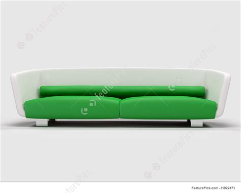 green and white sofa house living green and white sofa stock illustration