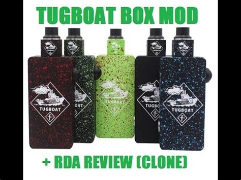 Box Mod Giveaway - tugboat box mod rda clone review giveaway