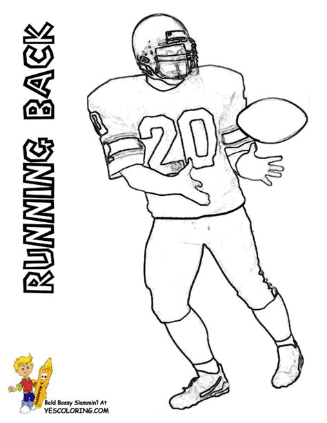 football card coloring page action football coloring pages to print free kids