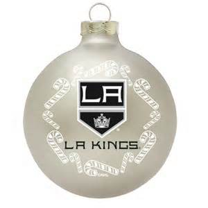 los angeles kings with candy cane nhl hockey glass
