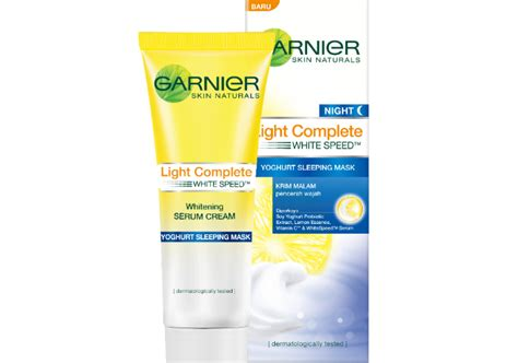 review garnier new light complete yoghurt sleeping mask yukcoba in