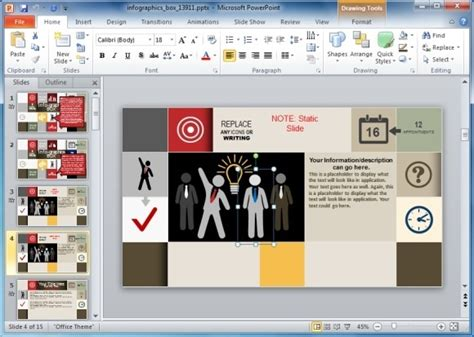 editing powerpoint template animated infographics template