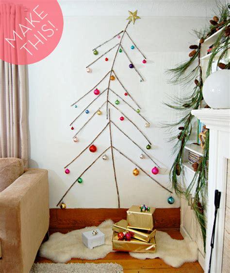 make it a space saving diy twig christmas tree 187 curbly