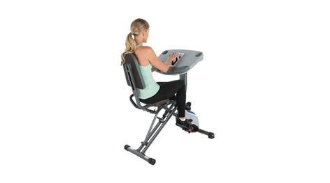 exerpeutic workfit 1000 desk station folding semi recumbent exercise bike exerpeutic workfit 1000 desk station semi recumbent