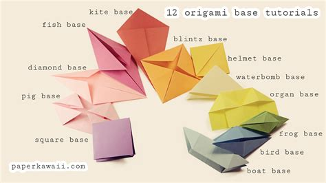 Basic Origami Folds - origami base folds for beginners paper kawaii