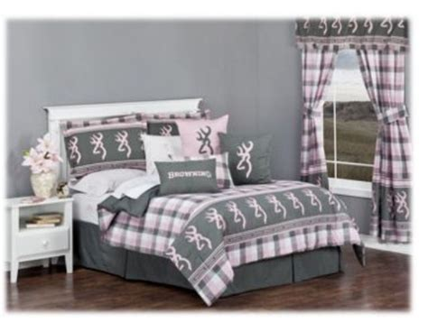 browning bed sets new browning bed set pink gray plaid bass pro shops