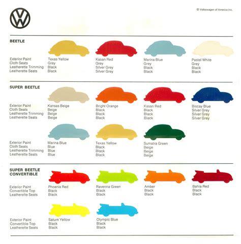 volkswagen colour chart thesamba vw archives 1973 vw colors