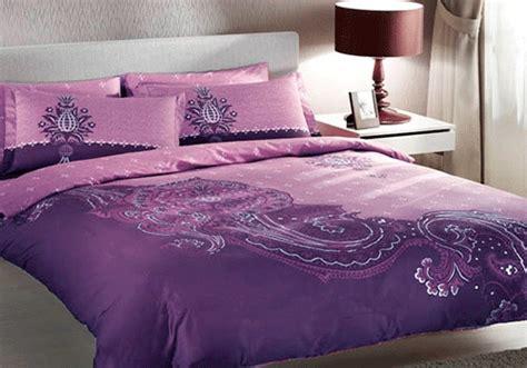 trend home interior design  bedroom purple furniture interior