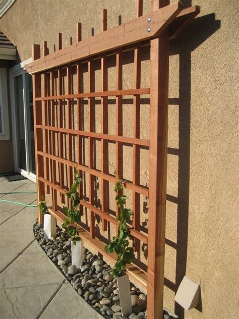 wood trellis design plans free wood trellis woods and gardens