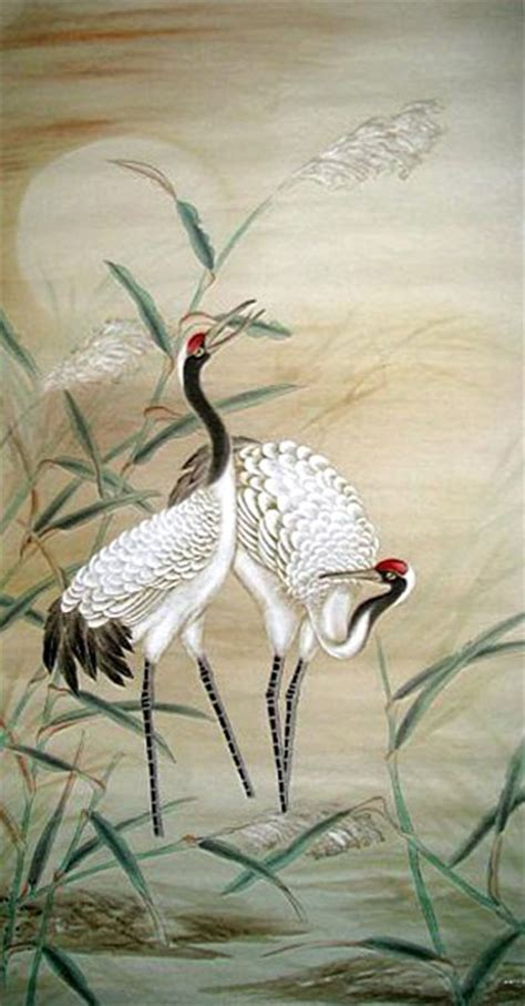 crane painting crane painting 4358006 50cm x 100cm 19 x 39
