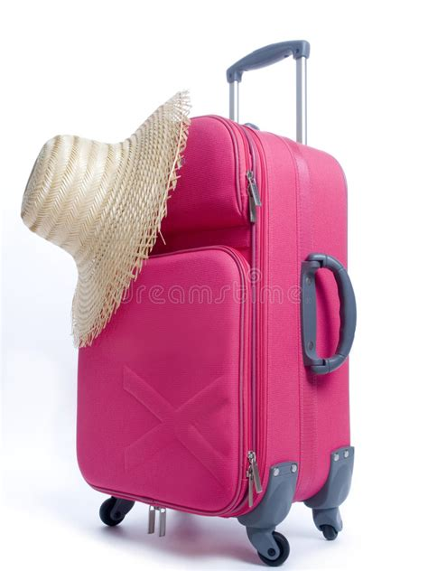 Tas Backpack Strawhat travel bag and straw hat stock photos image 6282683