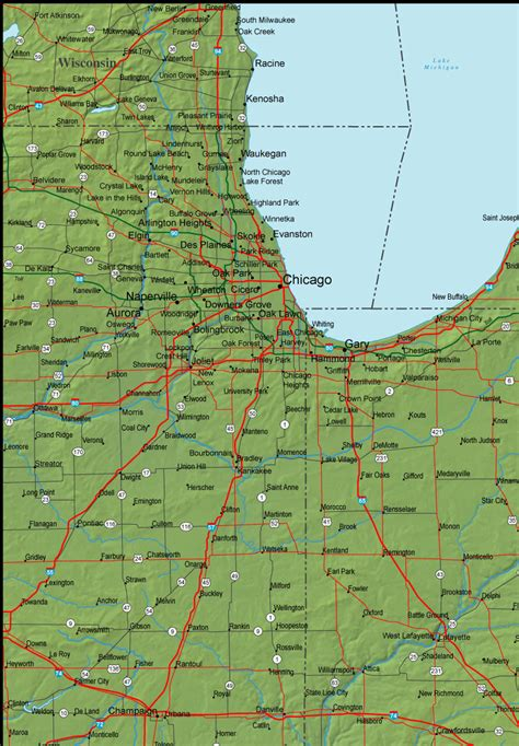 indiana road map indiana road map detailed gallery