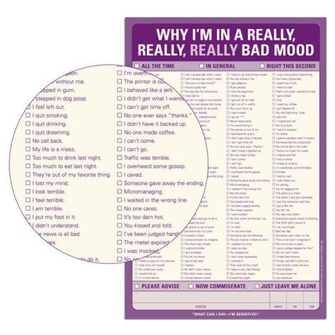 Why Do I Bad Mood Swings knock knock why i m in a really really bad mood notepad