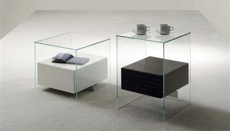 table de nuit verre table de chevet design en verre design en image