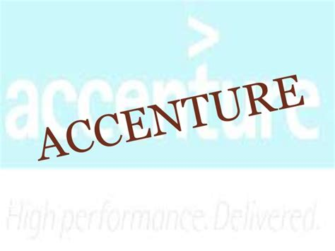 Accenture Mba by Accenture Company Details