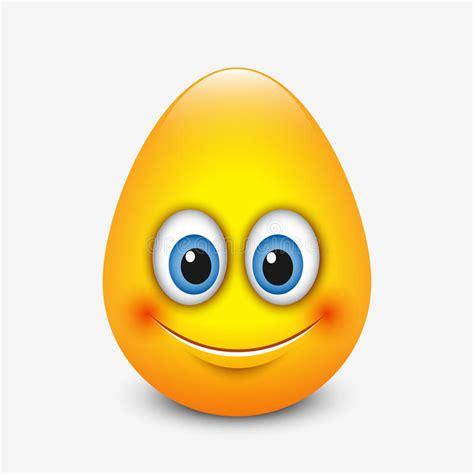 cute easter emoticon emoji egg vector illustration stock vector illustration  face