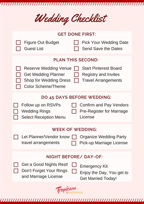 wedding plans wedding planning checklist for a stress free day