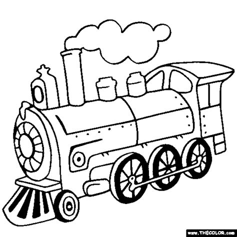 coloring page of a train engine steam locomotive train coloring page train coloring