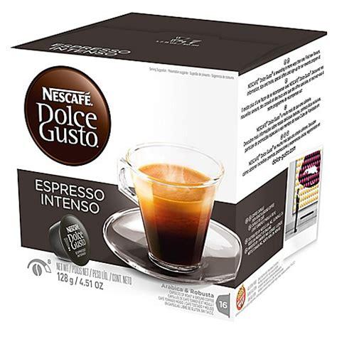 Nescafe Dolce Gusto Capsule Espresso Intenso 16s nescaf 233 174 16 count dolce gusto 174 espresso intenso capsules