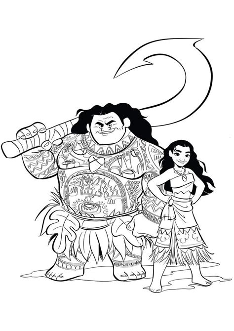 moana coloring pages    print