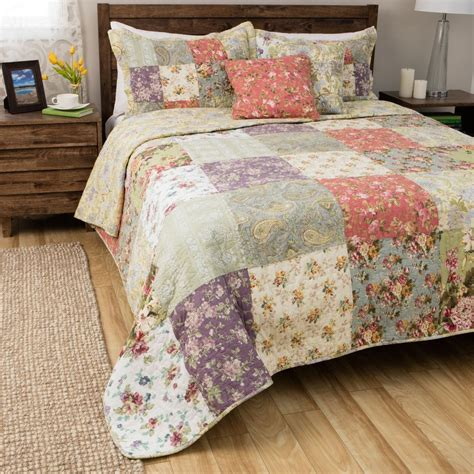 quilts for bedding size 3 reversible country quilt set bedding bedspread bedroom ebay