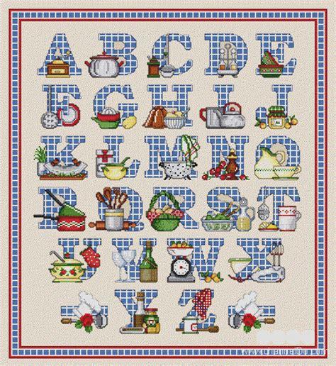 Alphabet Kitchen by 2 Go Cross Stitch Chart Kitchen Alphabet