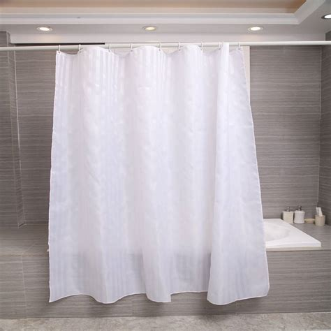 white thick curtains thick white stripe waterproof fabric polyester bath shower