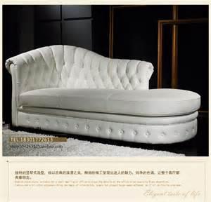 neo classical chaise longue sofa leather sofa european