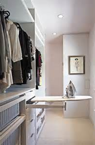 Pullout ironing board is an ideal space saving solution for small walk