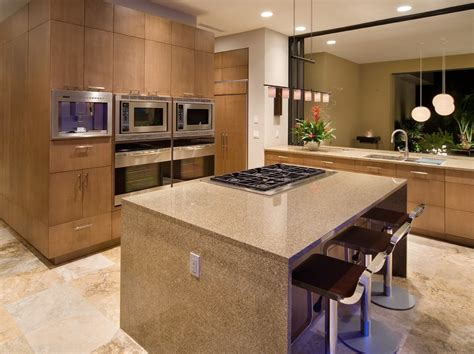 cuisine idee cuisine ouverte sur salon avec violet