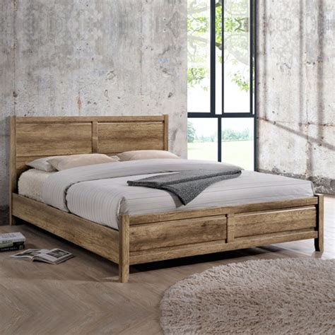Mdf Bed Frame Size Modern Mdf Wood Bed Frame In Oak Buy Bed Frame