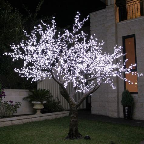 350cm white led cherry blossom tree in home garden