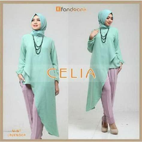 Maxi Aiwa Bordir Blue Sl Baju Muslim Wanita Cerutyfu Murah pakaian modern baju modern celia tunik grosir baju muslim pakaian