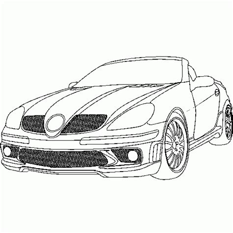 coloring pages of convertible cars cars and vehicles coloring car convertible mercedes