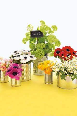 Tin Can Table Decorations diy wedding table centres bridesmagazine co uk