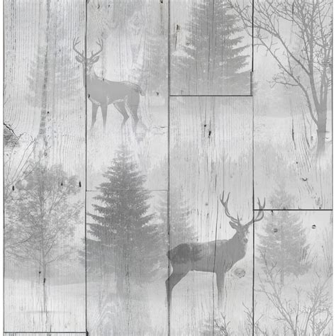 Highland Plank Wallpaper   Neutral   Wallpaper   B&M