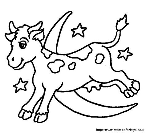 coloring page cow jumping over moon ausmalbilder kuh bild kuh