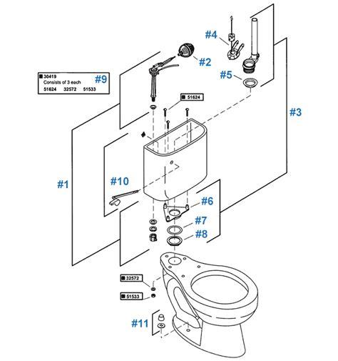 kohler toilet diagram kohler toilet repair parts confidente