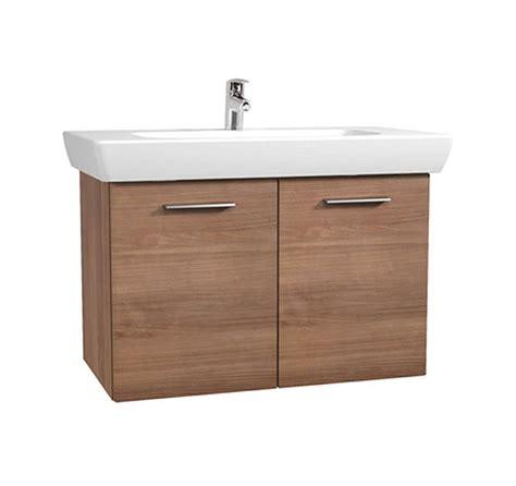 Vitra Bathroom Furniture Vitra S20 Cherry Finished 850mm Vanity Unit And Basin 54785