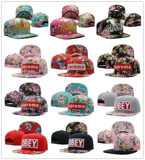 Topi Baseball Supreme Navy 5 1 pc new the hundreds supreme floral snapback cap basketball hip pop baseball cap