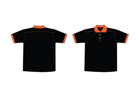 t shirt template vector free black orange collar t shirt template