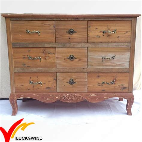 Antique Wood Bedroom Furniture China Vintage Classical Antique Primitive Style Cabinet Solid Wood Bedroom Furniture