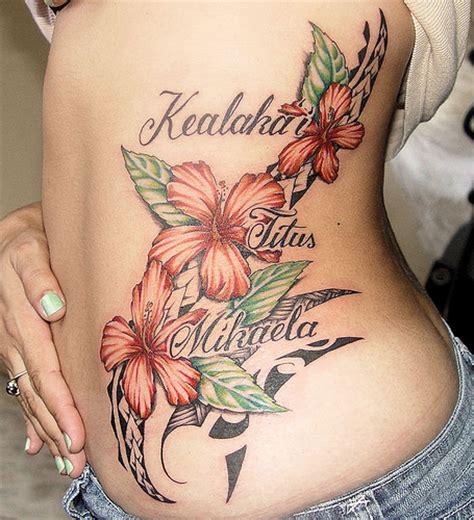 tattoo polynesian flower hawaiian flower tattoos3d tattoos