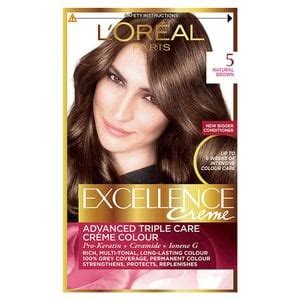 l oreal excellence creme hair colors medium and haircolor excellence creme 5 brown hair dye hair superdrug