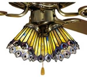 Jeweled Vanity Lights Meyda Jeweled Peacock Ceiling Fan Light Shade X