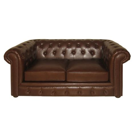 Leather Chesterfield Sofa by Genuine Leather Antique Chesterfield 2 Seater Sofa 2401981