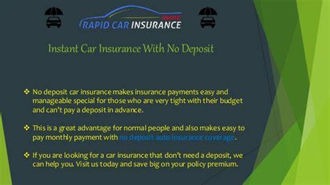 Get Very Cheap Car Insurance No Deposit Online