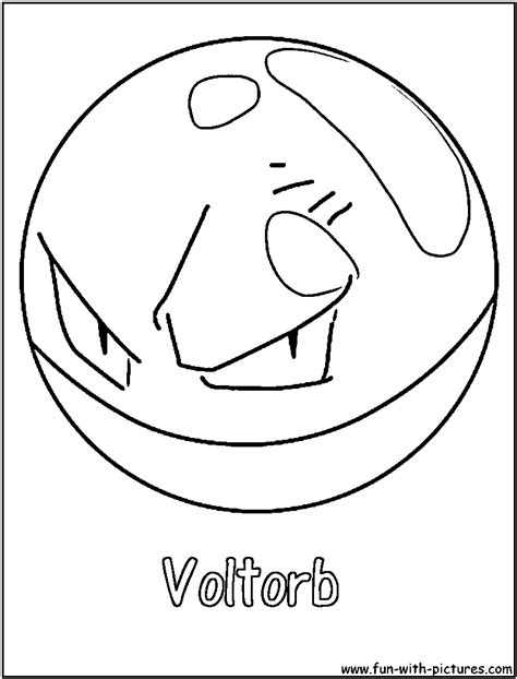 Voltorb Coloring Page