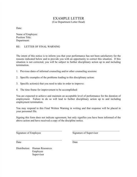 Written Notice Letter Template by Written Notice Template Gallery Cv Letter