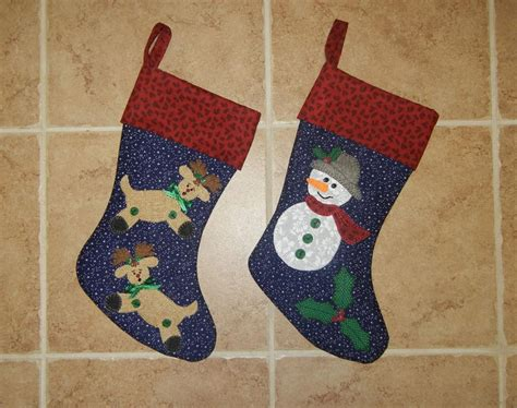 christmas stocking pattern with name reindeer snowman christmas stockings by sher s patterns
